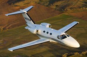 Cessna Citation Mustang im Flug