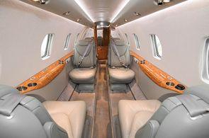 Kabine eines Privatflugzeuges des Typs Cessna Citation XLS