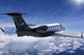 Die Flugzeuge des Typs Embraer Phenom 300 sind Charterfllugzeuge für Kurz.- und Mittelstreckenflüge