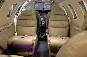 Kabine des Cessna CitationJet CJ1