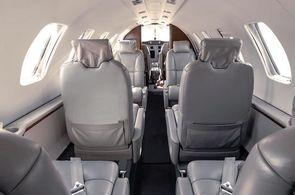 Kabine eines Cessna CitationJet CJ2