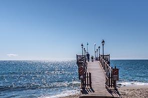 Blick auf das Meer bei Marbella