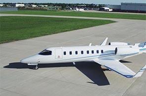Maschine des Typs Learjet 45