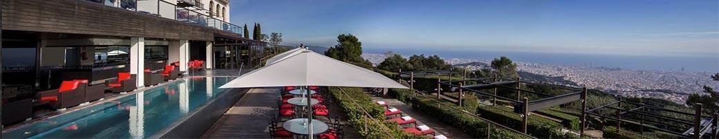 Blick auf Barcelona vom Grand Hotel La Florida