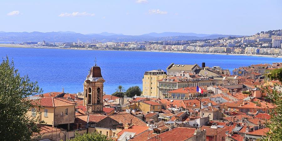 Blick auf die Altstadt von Nizza