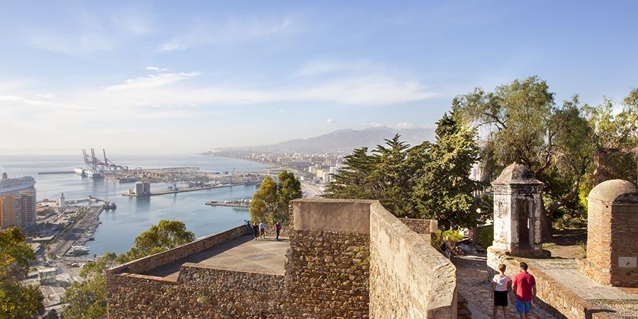 Blick auf das Stadtzentrum von Malaga