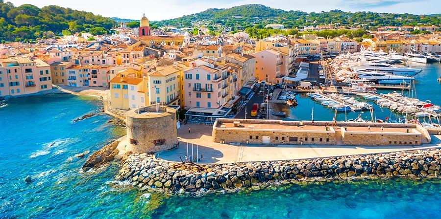Blick auf den Hafen von St. Tropez
