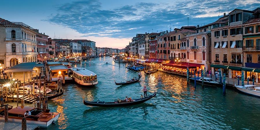 Abendliche Stimmung in Venedig